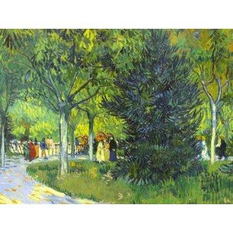quadros de paisagens - Quadro -Path in the park, 1888- - Van Gogh, Vincent