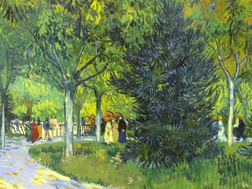 quadros-de-paisagens - Quadro -Path in the park, 1888- - Van Gogh, Vincent