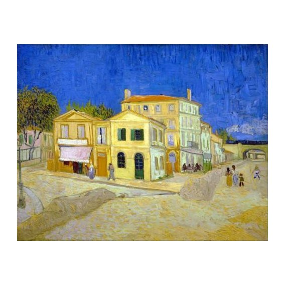 pinturas de paisagens - Quadro -The yellow house, 1888-