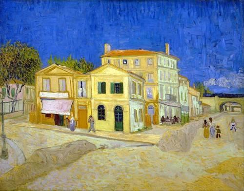 quadros-de-paisagens - Quadro -The yellow house, 1888- - Van Gogh, Vincent