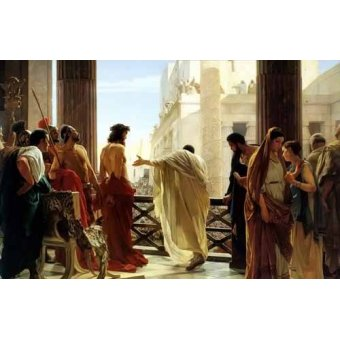 religious paintings - Picture -Ecce Homo, 1880- - Ciseri, Antonio
