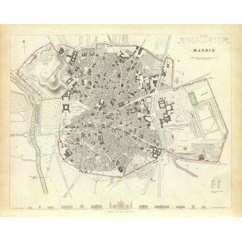 - Quadro -Madrid 1831- - Mapas antigos - Anciennes cartes