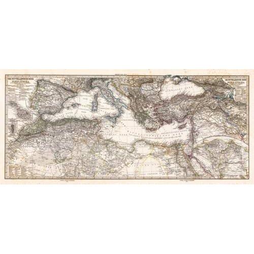 Quadro -Mar Mediterraneo y Norte de Africa (1875)-