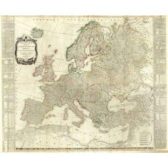 cuadros de mapas, grabados y acuarelas - Cuadro -Europa (1787)- - Mapas antiguos