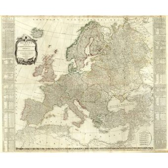 maps, drawings and watercolors - Picture -Europa (1787)- - Mapas antiguos