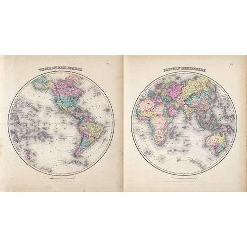 Quadro -Hemisferios Este y Oeste (1855)-
