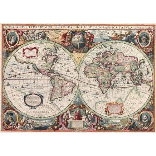 Quadro -Nova totius Terrarum Orbis geographica ac hydrographica tabula