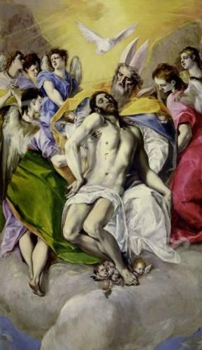 quadros-religiosos - Quadro -Trinidad- - Greco, El (D. Theotocopoulos)
