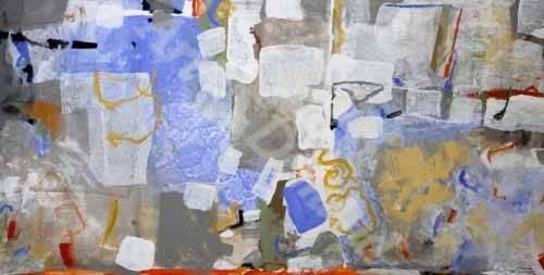 quadros-abstratos - Quadro -Abstrato _ Mediterrâneo- - Herron, Marisa