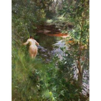 quadros nu artistico - Quadro -In Gopsmor, 1905- - Zorn, Anders