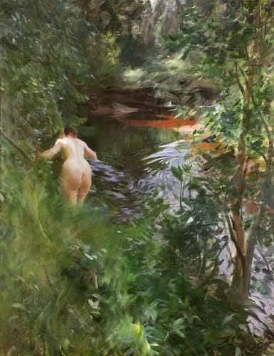quadros-nu-artistico - Quadro -In Gopsmor, 1905- - Zorn, Anders