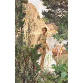 quadros nu artistico - Quadro -Jollen, 1918- - Zorn, Anders