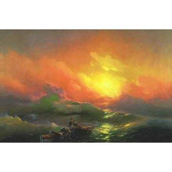 quadros de paisagens marinhas - Quadro -The Ninth Wave- - Aivazovsky, Ivan Konstantinovich