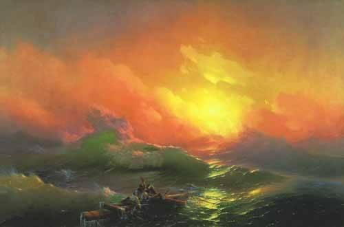 quadros-de-paisagens-marinhas - Quadro -The Ninth Wave- - Aivazovsky, Ivan Konstantinovich