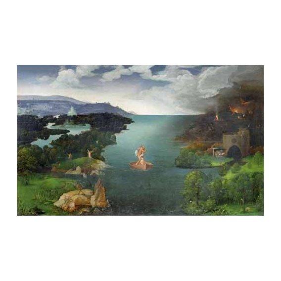 pinturas de paisagens - Quadro -El paso de la laguna Estigia-