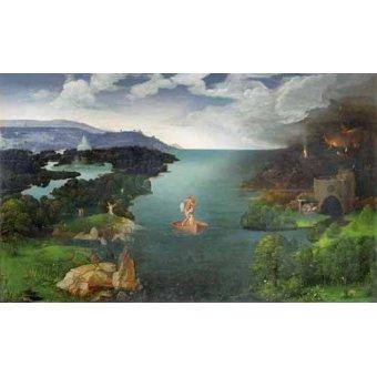 - Quadro -El paso de la laguna Estigia- - Patinir, Joachim