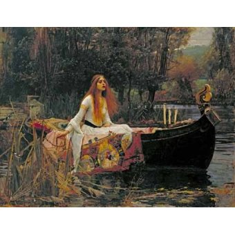 - Quadro -The Lady of Shallott, 1888- - Waterhouse, John William