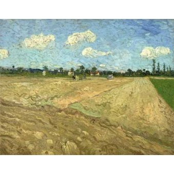 - Quadro -Ploughed fields (The furrows), 1888- - Van Gogh, Vincent