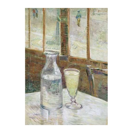 naturezas mortas - Quadro -Cafe table with absinth, 1887-