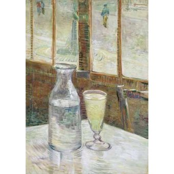 naturezas mortas - Quadro -Cafe table with absinth, 1887- - Van Gogh, Vincent