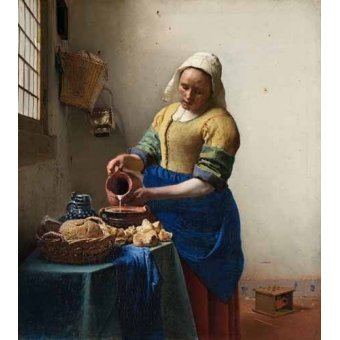 - Quadro -The Milkmaid, 1660- - Vermeer, Johannes