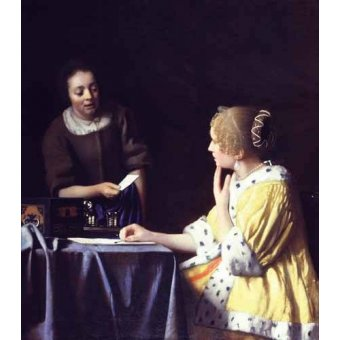 - Quadro -Mistress and Maid ca. 1666-1667- - Vermeer, Johannes
