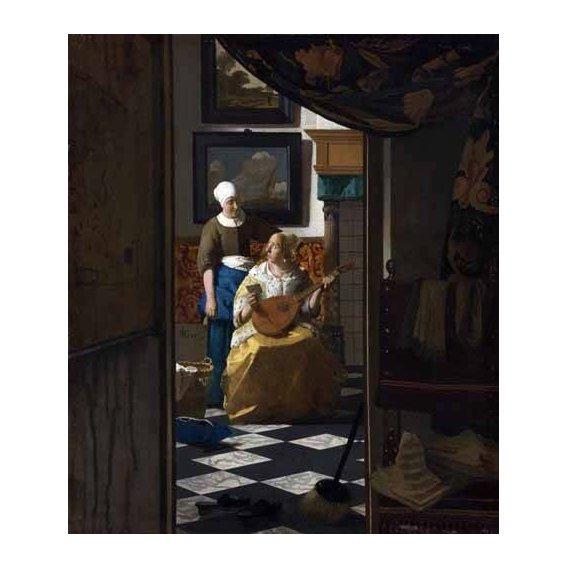 pinturas do retrato - Quadro -The Love Letter, 1669-