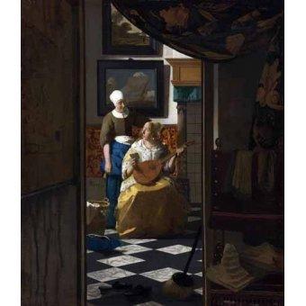 - Quadro -The Love Letter, 1669- - Vermeer, Johannes