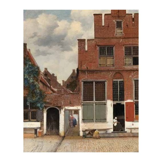 pinturas de paisagens - Quadro -View of Houses in Delft, known as 'The little Street', 1658-
