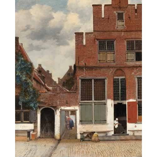 Quadro -View of Houses in Delft, known as 'The little Street', 1658-