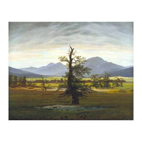 pinturas de paisagens - Quadro -Solitary Tree (also known as Village Landscape in Morning Light