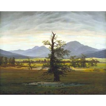 - Quadro -Solitary Tree (also known as Village Landscape in Morning Light - Friedrich, Caspar David