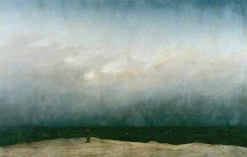 quadros-de-paisagens-marinhas - Quadro -Monk by the Sea, 1810- - Friedrich, Caspar David