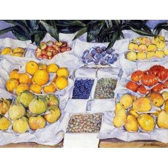 - Quadro -Fruta expuesta en un mostrador- - Caillebotte, Gustave