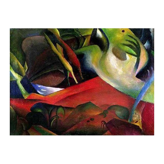 abstracts paintings - Picture -The storm, 1911-