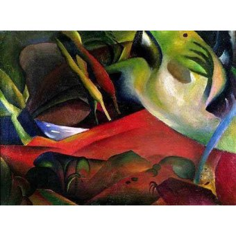 Quadros abstratos - Quadro -The storm, 1911- - Macke, August