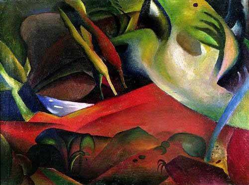 abstracts paintings - Picture -The storm, 1911- - Macke, August