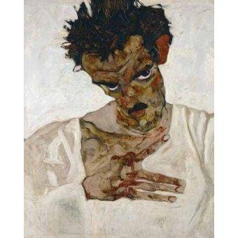 - Quadro -Self-portrait with Lowered Head, 1912- - Schiele, Egon