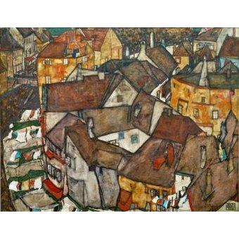 - Quadro -A Village- - Schiele, Egon