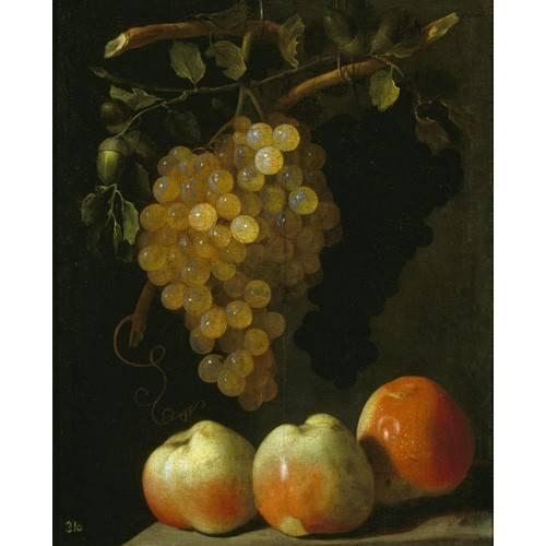 naturezas mortas - Quadro -Bodegon con uvas y manzanas-