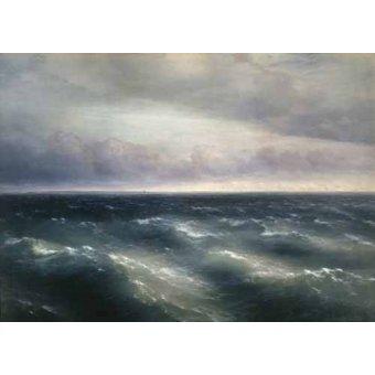 quadros de paisagens marinhas - Quadro -The Black Sea, 1881- - Aivazovsky, Ivan Konstantinovich