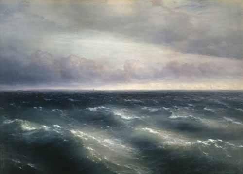 quadros-de-paisagens-marinhas - Quadro -The Black Sea, 1881- - Aivazovsky, Ivan Konstantinovich