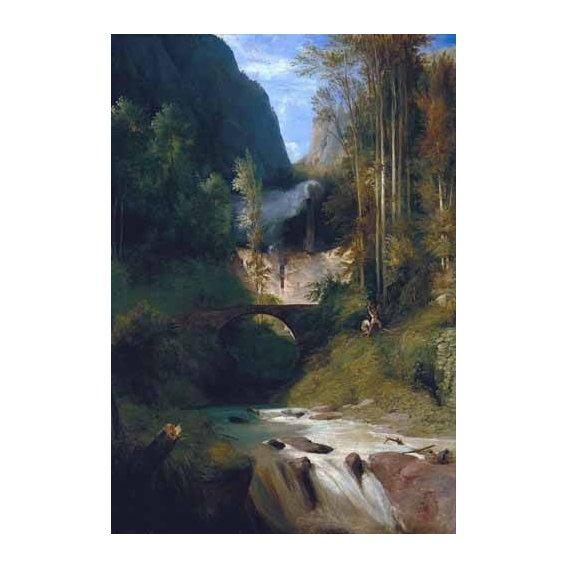 pinturas de paisagens - Quadro -Gorge near Amalfi-