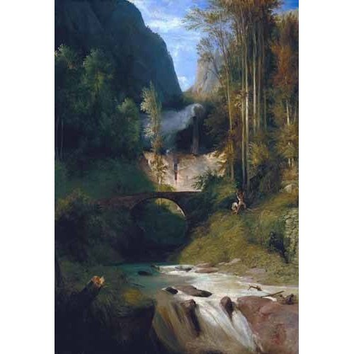 Quadro -Gorge near Amalfi-