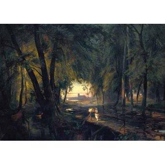 - Quadro -Forest path near Spandau- - Blechen, Karl