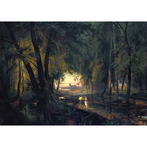 Quadro -Forest path near Spandau-