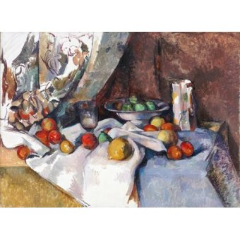 naturezas mortas - Quadro -Still Life with Apples, 1895-1898- - Cezanne, Paul
