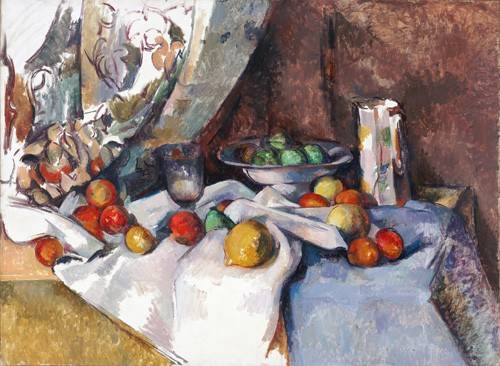 naturezas-mortas - Quadro -Still Life with Apples, 1895-1898- - Cezanne, Paul
