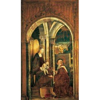 quadros religiosos - Quadro -La Adoración De Los Magos- - Berruguete, Pedro