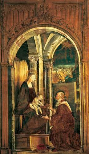 quadros-religiosos - Quadro -La Adoración De Los Magos- - Berruguete, Pedro